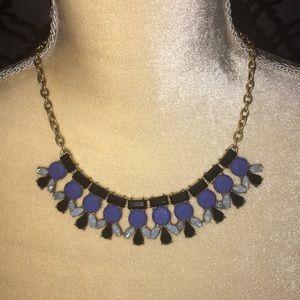 J. Crew Blue/Black Necklace